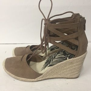 DV Dolce Vita Brown Espadrille Wedge Sandals